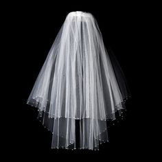 Double Layer Elbow Length Veil with Breathtaking Swarovski Crystal Edge