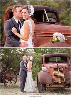 Star Hill Ranch Wedding | Rusty vintage car | wedding | Austin