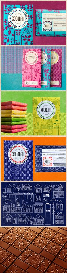 Branding and packaging design for Xocolatl Small Batch Chocolate by JUKU Design.