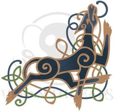 Celtic Majesty Hound Corner | Urban Threads: Unique and Awesome Embroidery Designs