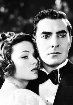 'TheRazor's Edge' (1946) Director: Edmund Goulding. Isabel Bradley (Gene Tierney) and Larry Darrell (Tyrone Power).