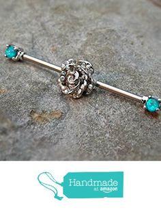 BodySparkle Body Jewelry Double Jeweled Industrial Barbell Piercing Earring 14g 1 /& 1//8 inch-28mm AB Purple 3mm End Balls