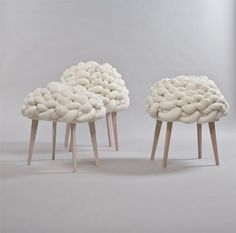 life as a moodboard: Knitted warm covers for furniture