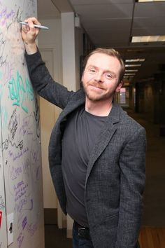 Simon Pegg. Because he is all that is right with comedy.