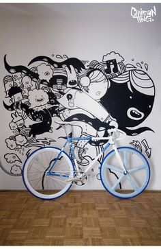Bike art, mural, illustration - what more could you want?