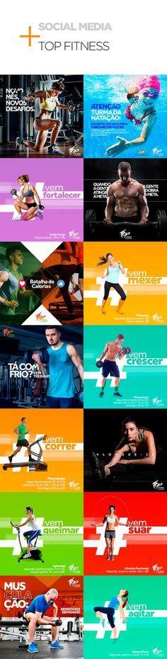 Social Media - Academia Top Fitness on Behance