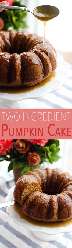 Say what??? TWO INGREDIENT pumpkin cake. For real. | The Yooper Girl