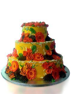 wedding cake by katjas Cakes, via Flickr