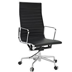 Nicer Furniture Office Chair Eames Style Low Back - Home Office Decoration High Back Office Chair, Best Office Chair, Black Office Chair, Office Chair Without Wheels, Home Office Chairs, Home Office Furniture, Cool Furniture, Desk Office, Desk Chairs