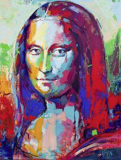Mona-Lisa, 200x150cm/ 78,7x59,1 inch, acrylic on canvas