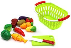 Little Treasures Vegetable Basket Play Set, Cut and Chop Series, 10 Pieces, 3 Years and Up ** Read more reviews of the product by visiting the link on the image.