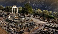 The ruins,temple of Athena Pronea,Delphi,Greece