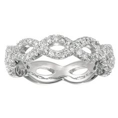 White Gold Diamond Stack Ring LR4589W44JJ