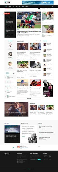 Notiz - Clean Magazine WordPress Theme #wp #wpress #webdesign Download: http://themeforest.net/item/notiz-clean-magazine-wordpress-theme/13209437?ref=ksioks