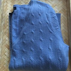 NY&C Cable Knit Sweater Gorgeous, baby blue, super soft, cable knit sweater. Great condition. No holes or stains. 100% Acrylic. New York & Company Sweaters V-Necks
