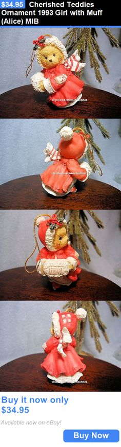 Cherished Teddies Christmas: Cherished Teddies Ornament 1993 Girl With Muff (Alice) Mib BUY IT NOW ONLY: $34.95