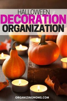 How to organize your Halloween decorations the easy way. A simple, effective method for decluttering, and organizing your favorite Halloween decorations.
