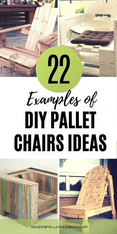 Check out these awesome pallet chairs.  22 examples of diy pallet chairs ideas that will look great in your home, outdoor patio and garden. #diypalletchairs #palletprojects #palletypcycling Pallet Chairs, Pallet Furniture Plans, Outdoor Chairs, Diy Furniture, Craft Projects For Kids, Diy Pallet Projects, Craft Activities For Kids, Project Ideas, Pallet Decking