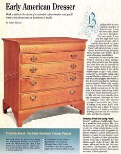 Drawer Dresser Plans - Furniture Plans