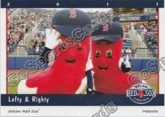 Lefty and Righty, Salem Red Sox mascots; Class A-Advanced Carolina League.