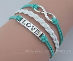 Infinity bracelets bracelets love charm bracelet & wax by NewGifts, $3.99