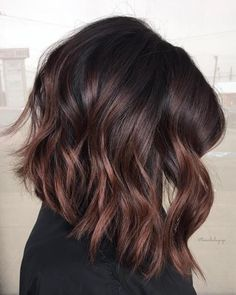 Cherry Chocolate Balayage For Black Hair