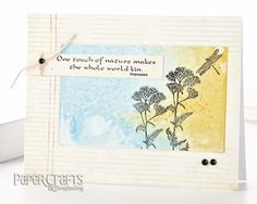 Combine shimmer sprays and salt to create a unique background; Teri Anderson - Paper Crafts Stamp It! Techniques, Vol. 1: make cards, stamping, spray ink