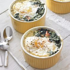 Baked Eggs with Spinach and Prosciutto ny williamssonoma
