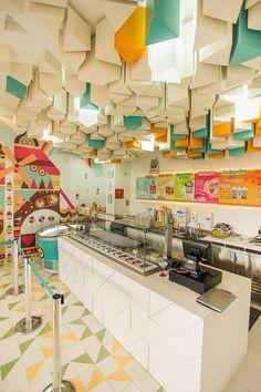 Restaurant and store design - Amazing Interior Design Design Shop, Shop Interior Design, Cafe Design, Retail Design, Store Design, Cafe Bar, Cafe Shop, Design Commercial, Commercial Interiors