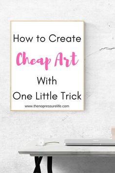 Easy and cheap wall decor ideas. Learn how to DIY wall art with one simple product!   The No Pressure Life