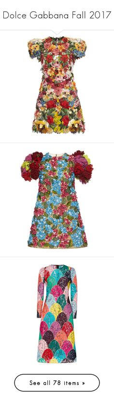 """Dolce Gabbana Fall 2017"" by sella103 ❤ liked on Polyvore featuring dresses, vestido, floral, cap sleeve floral dress, flower printed dress, cap sleeve mini dress, flower print dress, floral pattern dress, floral print mini dress and floral day dress"