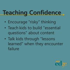 Teaching Confidence by Kevin Goddard on ASCD EDge