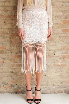 Fina Fringe Skirt