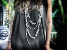 Collar plateado multi cadenas #onlyou