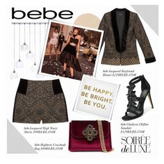 """""""Soirée de Luxe with bebe Holiday: Contest Entry"""" by piedraandjesus ❤ liked on Polyvore featuring Bebe, CB2 and Ankit"""