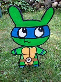 TMNT Leonardo Bunny HUGE 3D Art by sohokitten on Etsy, $50.00