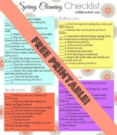 Your Deep Spring Cleaning Game Plan (with Printable Checklist!) - Richly Rooted