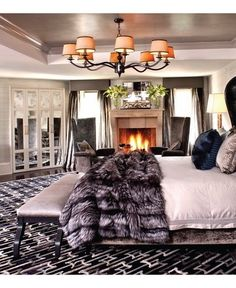 Start with big dreams and make life worth living.- Stephen Richards Cozy and warm master bedroom. - Architecture and Home Decor - Bedroom - Bathroom - Kitchen And Living Room Interior Design Decorating Ideas - House, Home, Dramatic Bedroom, Home Bedroom, Glam Bedroom, Luxurious Bedrooms, Bedroom Inspirations, Interior Design, Luxury Bedroom Master