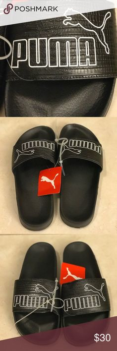 Women's Puma Leadcat AO Leather Slide Sandals NWT. NWT. Size 8.5  Slip into the edgy style and total comfort of the Women's Puma Leadcat AO Leather Slide Sandals. Leather upper with textured pattern for style Puma branding and Cat logo on the upper Fixed upper strap for easy on comfort Cushioned footbed for a cloud-like feel all day Rubber sole with traction pattern for grip even in wet conditions The Puma Leadcat AO Leather is imported. Set the trends while keeping your cool in the stylish…