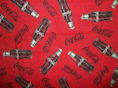 Coca Cola Coke Bottles Bottle caps Script by DeStachDepotFabrics