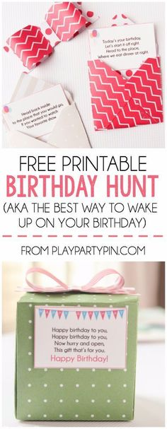 This birthday scavenger hunt sounds like such a fun way to wake someone up on their birthday, love it! birthday A Super Fun Birthday Scavenger Hunt {Free Printable! Scavenger Hunt Birthday, Birthday Party Games, Birthday Fun, Birthday Cards, Birthday Ideas, Birthday Brunch, Birthday Surprise Boyfriend, Birthday Gift For Him, Birthday Presents
