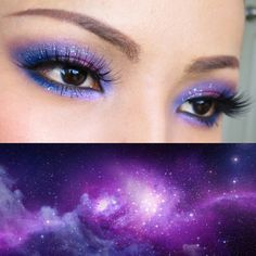 Galaxy eyes make-up
