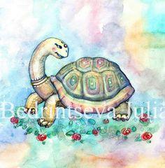 черепаха царевна / Main 802038 original Turtle Pattern, Turtles, Illustrators, Animals, Art, Tortoises, Art Background, Animales, Turtle