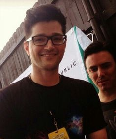 The Script - Danny and Glen.. OneRepublic poster in the background! :D