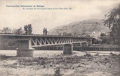 Ferrocarriles Suburbanos de Málaga. Puente de ferrocarril sobre el rio Vélez.