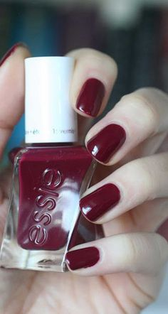 New dark red essie nail color you have to try this season! #winter #fall #nails