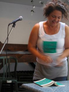 All smiles. 2105 SPRING FICTION LAUNCH | TIGHTROPE BOOKS | VICTORY CAFE | JUNE 16TH