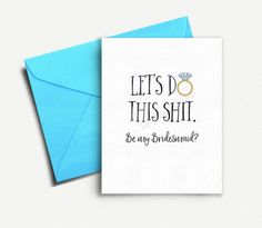 Will you be my Bridesmaid Card Funny, Bridesmaid Card, Bridesmaid Proposal, Will you be my Bridesmaid Gift, Wedding Party, Maid of Honor #Bridesmaid #Card #Funny #Wedding #Party #Gift