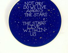Neil DeGrasse Tyson Quote Embroidery