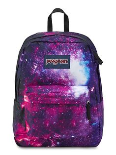 The new JanSport galaxy print High Stakes backpack for Fall 2015 want one soooooo badly 😭😭